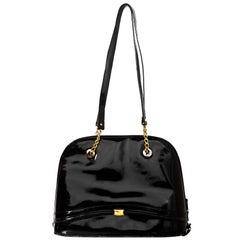 Bally Black Patent Leather Shoulder Bag