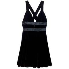 Kathryn Conover Black Velvet Criss Cross Dress sz US6