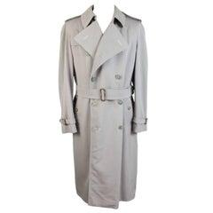 Burberry 1980s trench coat men's beige size 38 reg raincoat long vintage