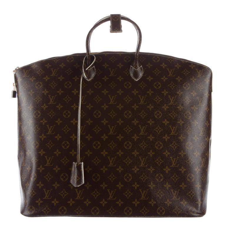 Louis Vuitton Brown Mens Womens Large Carryall Travel Top Handle Tote Bag SMKjoYoRa