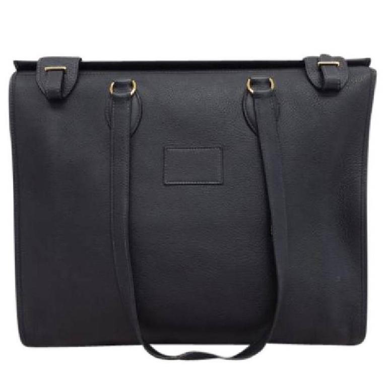 Hermes Leather Oversize Carryall Briefcase Travel Shopper Shoulder Tote Bag 1