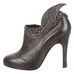 CHANEL NEW Runway Evening Ankle Heels Boots in Box