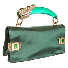 Prototype - Tom Ford for Yves Saint Laurent Spring 2004 Emerald Jeweled Bag