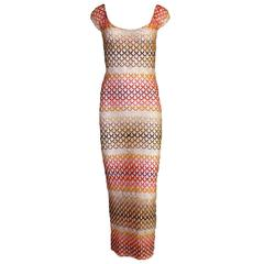 Breathtaking Missoni 2Pcs Ensemble Maxi Dress with Matching Swimsuit