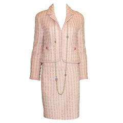Iconic Chanel 1994 Pink Pastels Skirt Suit - Museum Piece
