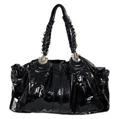 Black Chloe Patent Leather Shoulder Bag