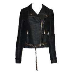 Chanel Metallic Chain Detail Jacket