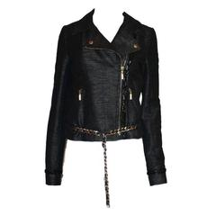 Chanel Metallic Chain Detail Jacket