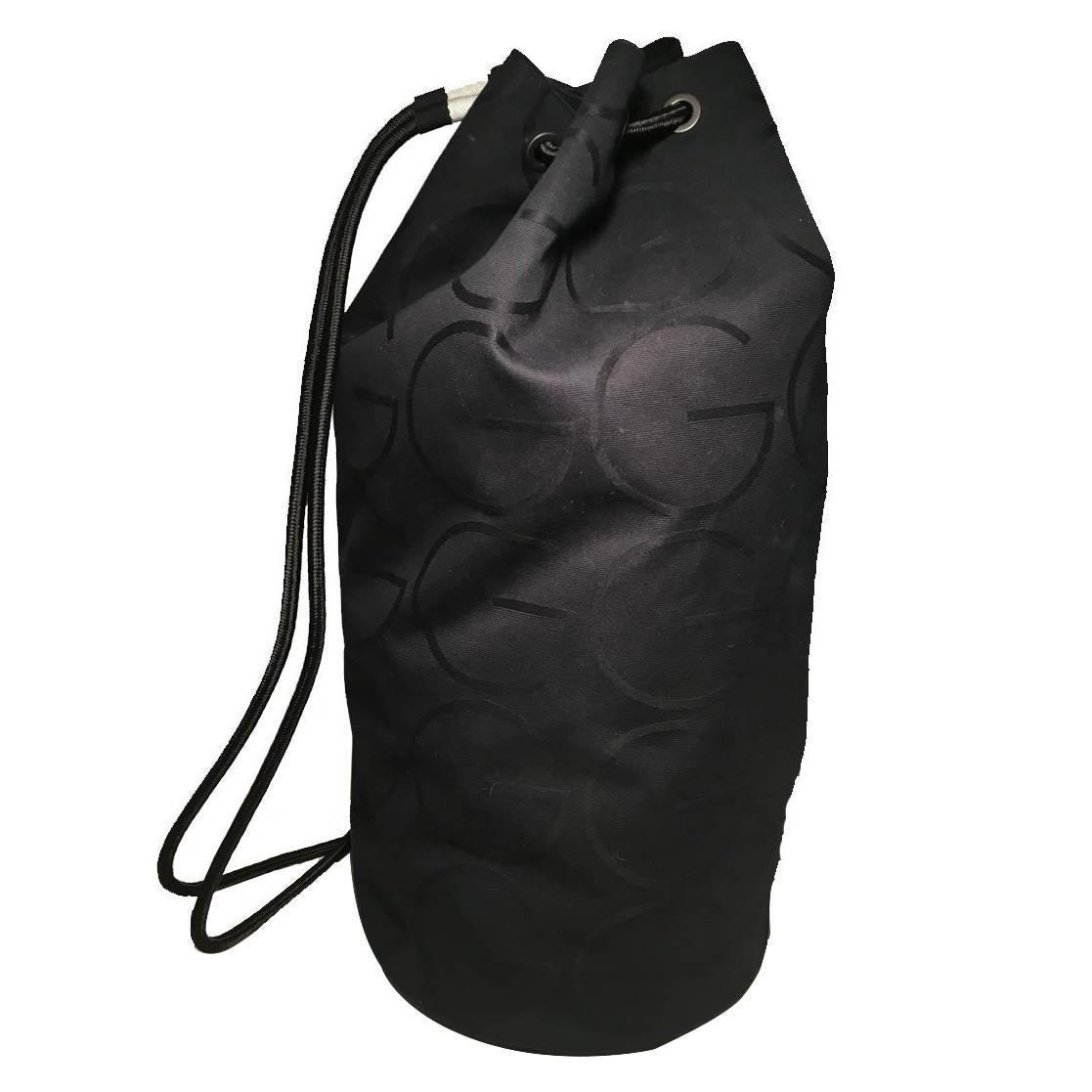 RARE Gucci Black GG Monogram Canvas Sling Backpack Bag