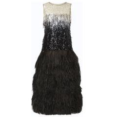 Yves Saint Laurent Haute couture sequin & feather dress, Autumn/Winter 1967