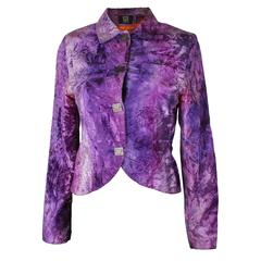 Biba Purple Crushed Velvet Jacket