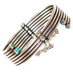 Hector Aguilar Turquoise Sterling Silver Bracelet 1950