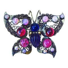 Huge William de Lillo Butterfly Brooch 1972