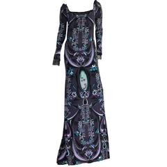 Emilio Pucci Signature Print Evening Gown Dress
