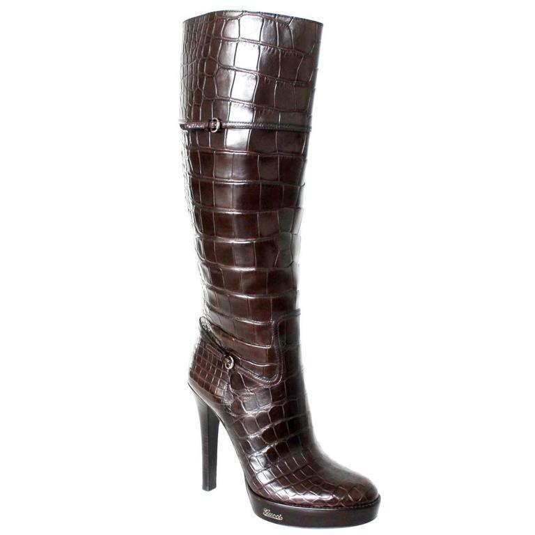 Gator Skin High Heel Shoes