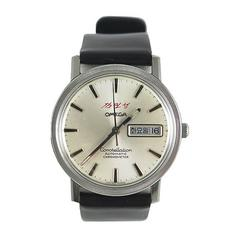 Omega Silver Constellation North Korea Kim Il Sung Automatic Wristwatch