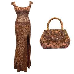 Baracci Embellished Gown and Bag