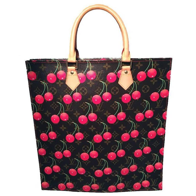 52a8e210b11b Limited Edition Louis Vuitton Cerise Cherry Print Monogram Sac Plat