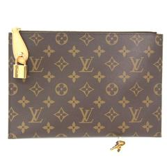 Louis Vuitton Monogram Rare Men's Women's Travel Carryall Clutch Bag With Keys