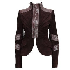 TOM FORD for GUCCI F/W 2004 PYTHON SUEDE LEATHER JACKET IT.42