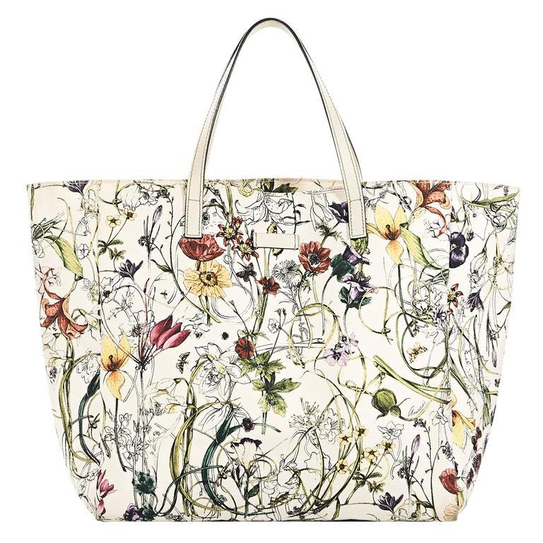 2fe1181003b0 Gucci Flora Jolicoeur Tote Bag For Sale at 1stdibs