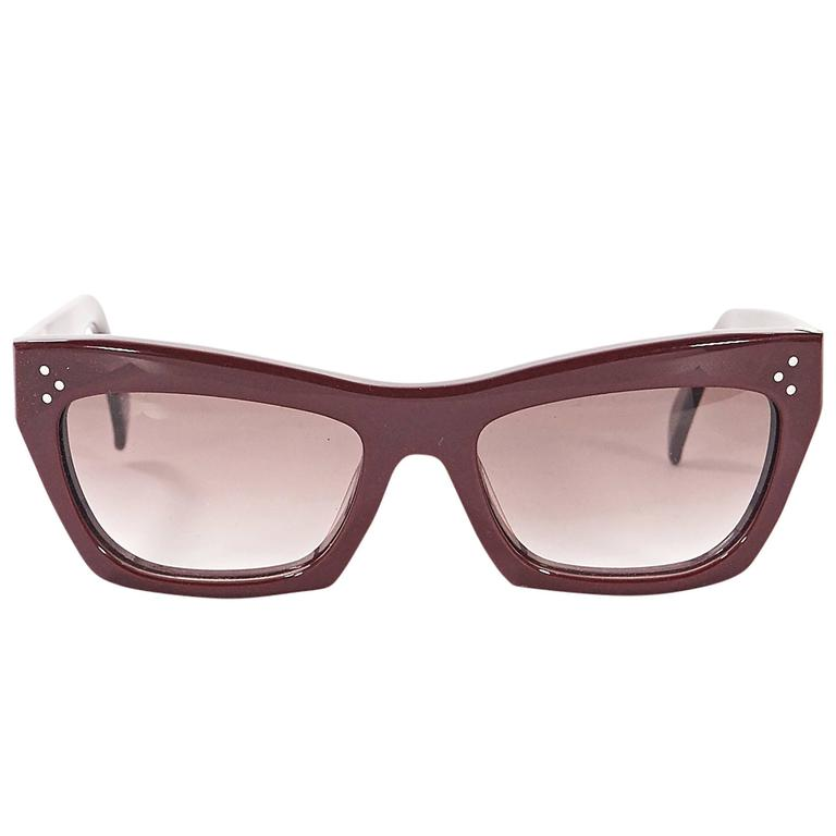 62237705a0 Red Céline Opaque Sunglasses For Sale at 1stdibs