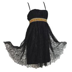 Stunning Dolce & Gabbana Black French Lace Laurel Dress