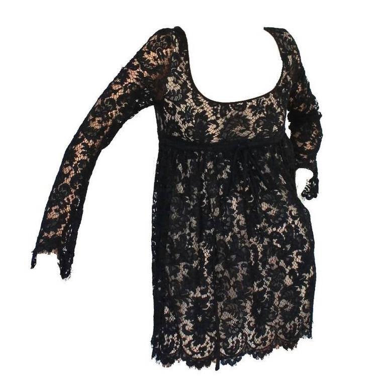 Gucci by Tom Ford SS 1996 Black Lace Mini Dress