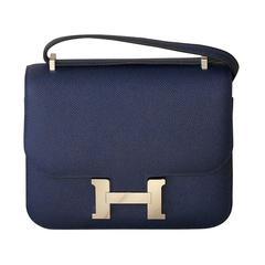 HERMES Constance Mini Epsom Sapphire Blue 18'