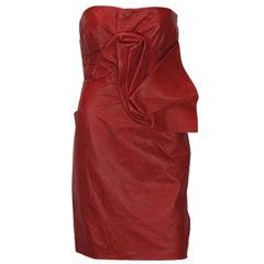 New DSQUARED2 Runway Lamb Leather Red Dredd It. 42 - US 6