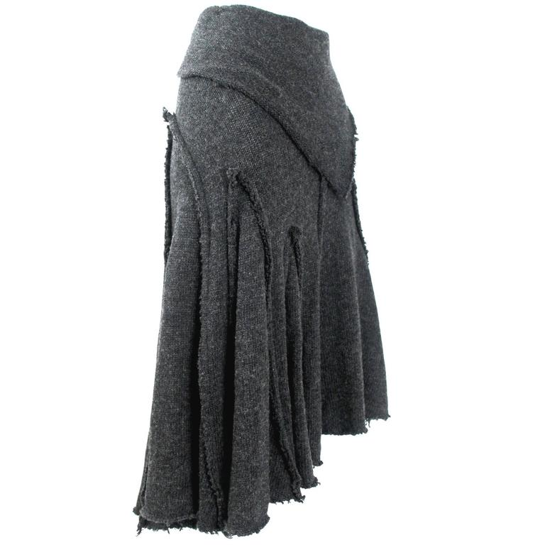 Comme des Garcons 2002 Collection Wool Skirt