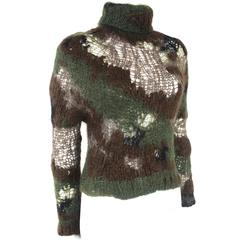 Junya Watanabe 2006 Collection Runway Military Camouflage Mohair Runway Sweater