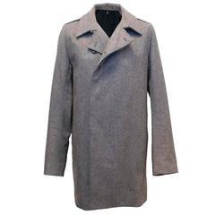 Christian Dior Men's Grey Wool Coat