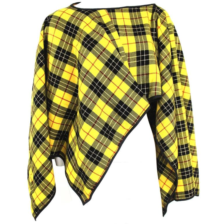 Comme des Garcons 1999 Collection Shaped Poncho