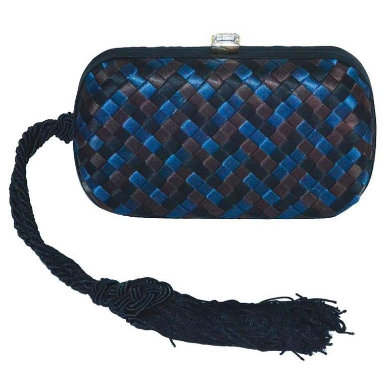 Bottega Veneta Tri-Color Silk Knot Bag