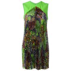 Versace Floral print Plisse Dress