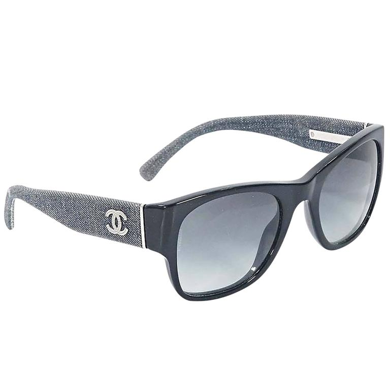 3306b411a5 Black Chanel Sunglasses For Sale at 1stdibs