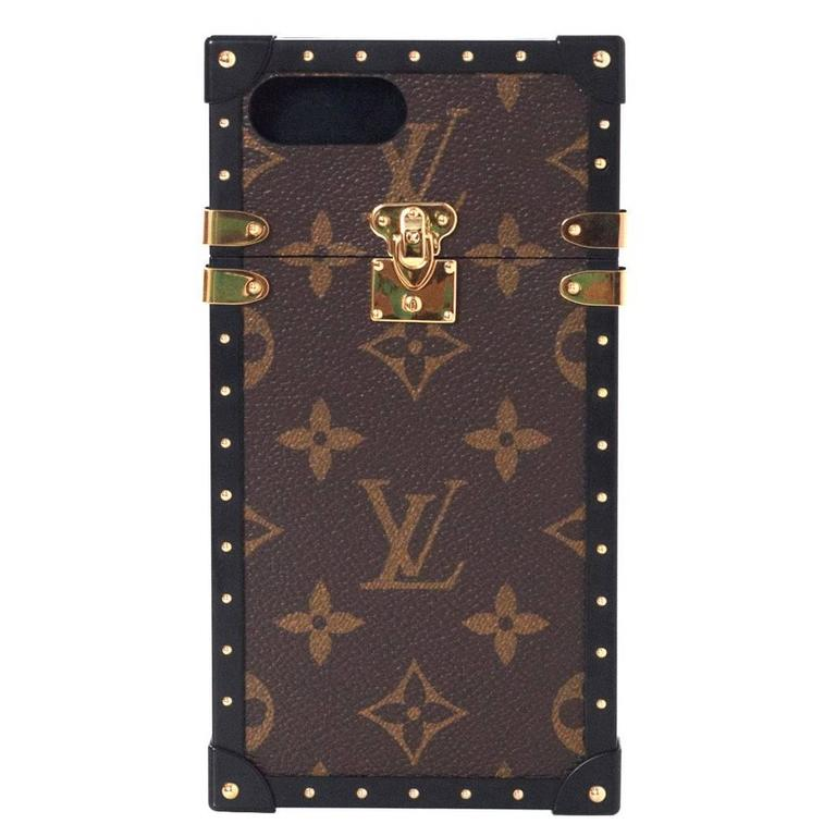 louis vuitton new 39 17 sold out monogram eye trunk phone. Black Bedroom Furniture Sets. Home Design Ideas