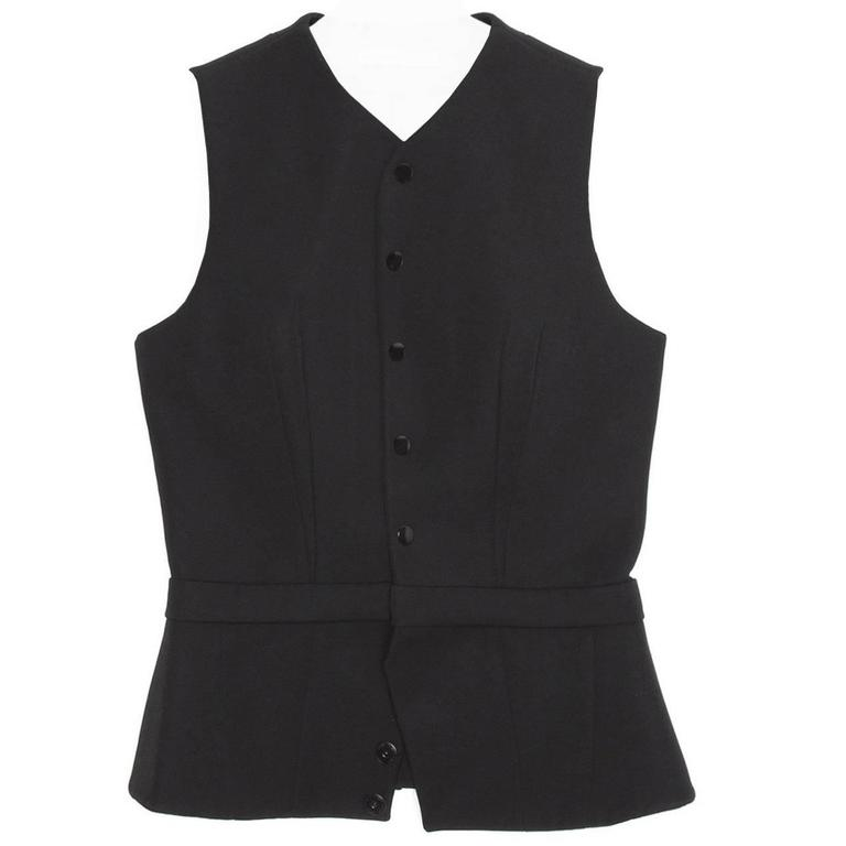 Balenciaga Black Wool Fitted Vest