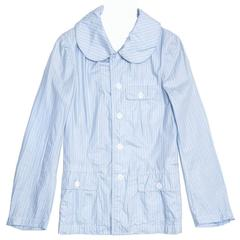 Comme des Garçons Blue & White Striped Slicker Jacket