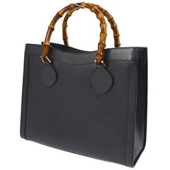 NEWFOUND LUXURY - Gucci Leather Bamboo Large Dual Top Handle Shopper Tote Bag