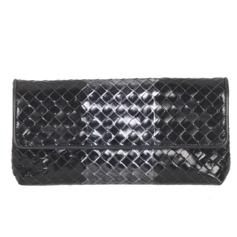 BOTTEGA VENETA Metallic INTRECCIATO Leather CLUTCH Pouch