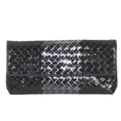 BOTTEGA VENETA Metallic INTRECCIATO Leather CLUTCH Pouch