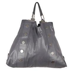 BALENCIAGA Gray Leather LARGE SHOPPING BAG Shopper