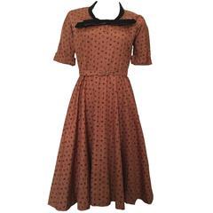 Superb Vintage 1950s Horrockses Cotton Novelty Print Dress Zodiac 10 36