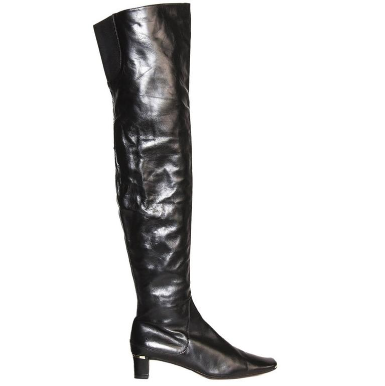 Marni Black Thigh High Boots