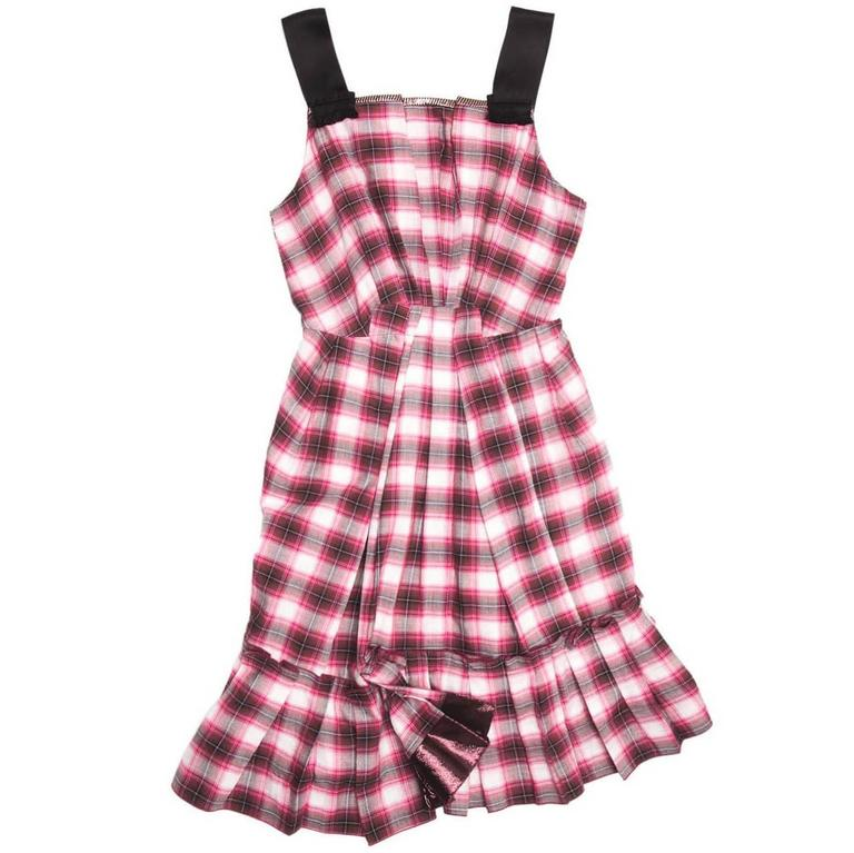 Marc Jacobs Red White & Black Tartan Dress
