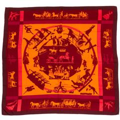 Hermes Cashmere Silk Jeux D'Ombres Shawl Scarf