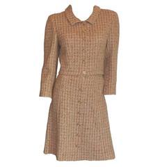 Fantastic Chanel Fantasy Tweed Belted Skirt Suit Ensemble