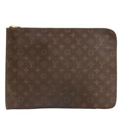 Louis Vuitton Poche Documents Monogram Canvas Clutch Bag